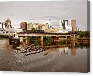 River Structures13 Canvas Print by Susan Crossman Buscho