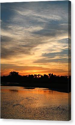 Canvas Print featuring the photograph River Sun by Alicia Knust