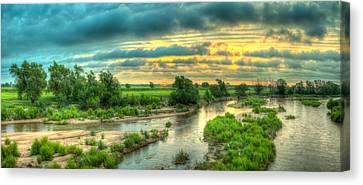 River Sunrise Canvas Print by  Caleb McGinn
