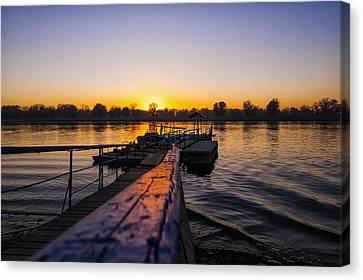 River Sunset Canvas Print by Svetlana Sewell