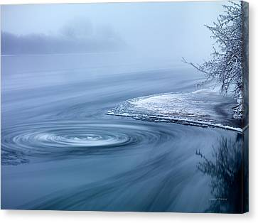 River Swirl Canvas Print by Leland D Howard