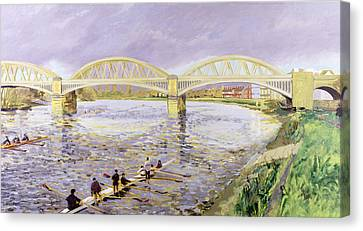 River Thames At Barnes Canvas Print by Sarah Butterfield