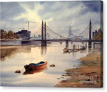 River Thames Towards Chelsea Canvas Print by Bill Holkham