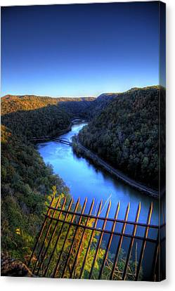 Canvas Print featuring the photograph River Through A Valley by Jonny D