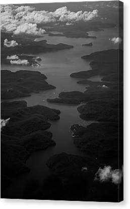 River Through The Clouds Canvas Print by Parker Cunningham