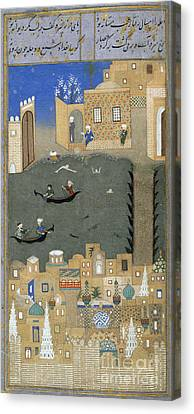 River Tigris In Baghdad Canvas Print by British Library
