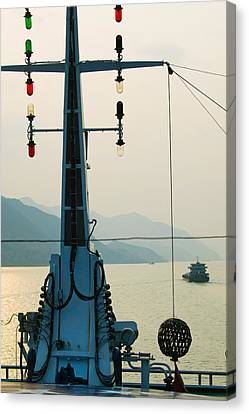 River Traffic On The Yangzi River Canvas Print by Panoramic Images