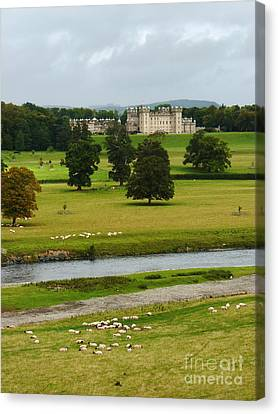 River Tweed And Floors Castle Canvas Print by Phil Banks