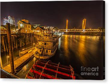 Old Sacramento Canvas Print - River View by Charles Garcia