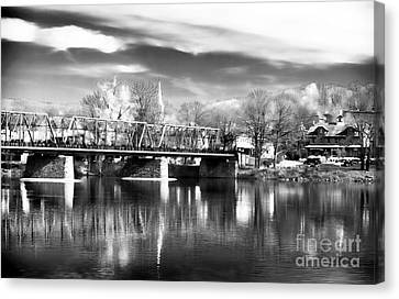 River View In New Hope Canvas Print by John Rizzuto