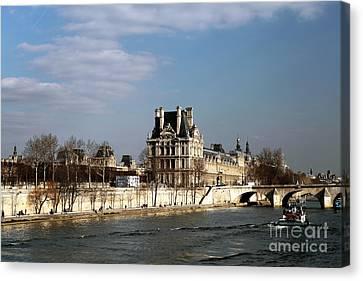 River View In Paris Canvas Print by John Rizzuto