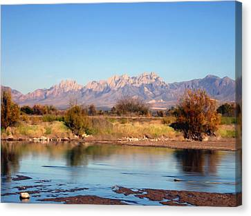 River View Mesilla Canvas Print by Kurt Van Wagner
