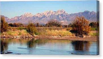 River View Mesilla Panorama Canvas Print by Kurt Van Wagner