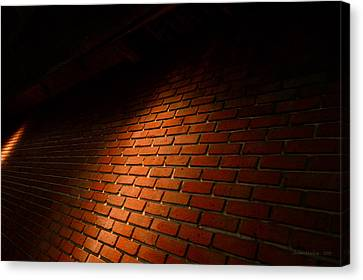 Shawn Marlow Canvas Print - River Walk Brick Wall by Shawn Marlow
