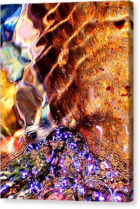 River Water Abstract Canvas Print by Peter Mooyman