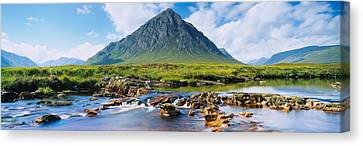River With A Mountain Canvas Print by Panoramic Images