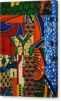 Canvas Print featuring the tapestry - textile Riverbank by Apanaki Temitayo M