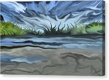 Riverbank Canvas Print
