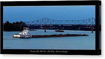 David Lester Canvas Print - Riverboat Life by David Lester