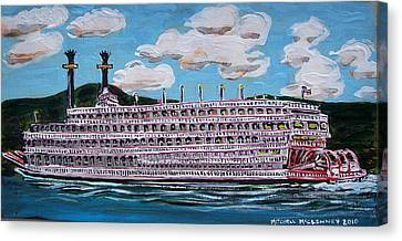 Riverboat Queen Canvas Print by Mitchell McClenney