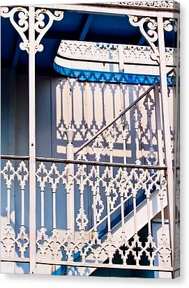 Riverboat Railings Canvas Print
