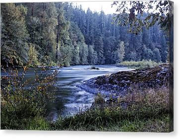 Riverflow At Dusk Canvas Print by Belinda Greb