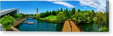 Riverfront Park Clean Pano Canvas Print by Dan Quam