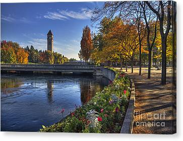 Riverfront Park - Spokane Canvas Print by Mark Kiver