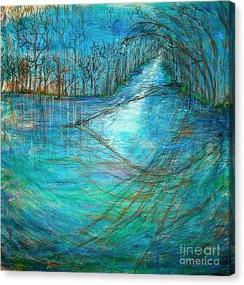 River's Eye Canvas Print by Delona Seserman