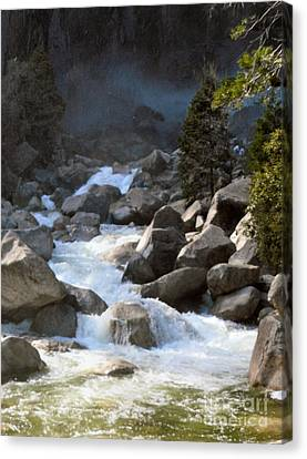 Rivers From The Mist Canvas Print by Audrey Van Tassell
