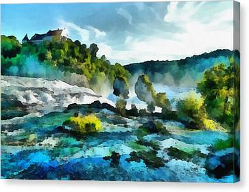 Riverscape Canvas Print by Ayse Deniz