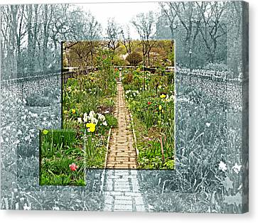 Riverside Garden Canvas Print by Sarah McKoy