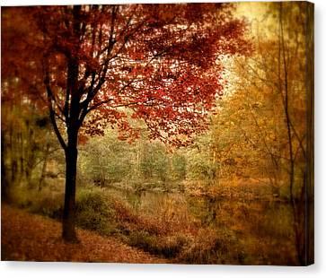 Riverside Maple Canvas Print by Jessica Jenney