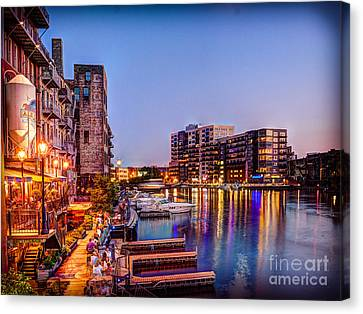 Riverwalk At Dusk Canvas Print by Andrew Slater