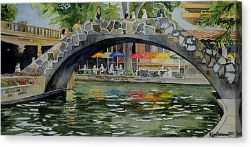 Riverwalk Bridge Canvas Print by Jeffrey S Perrine