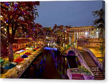Riverwalk Christmas Canvas Print