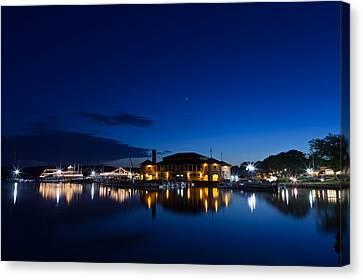 Lake Geneva Wisconsin Canvas Print - Riviera Blue by Steve Gadomski