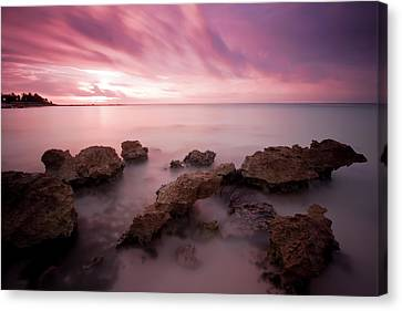 Riviera Maya Sunrise Canvas Print by Adam Romanowicz