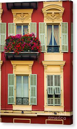 Riviera Windows Canvas Print by Inge Johnsson