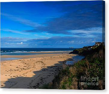 Riviere Sands Cornwall Canvas Print by Louise Heusinkveld