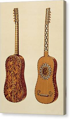Rizzio Guitar, From Musical Instruments Canvas Print by Alfred James Hipkins