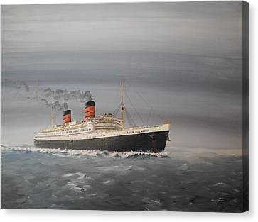 R.m.s Queen Elizabeth Canvas Print by James McGuinness