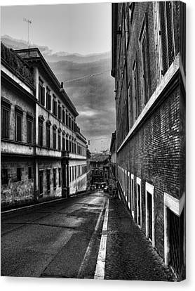 Road At Night Canvas Print by Oscar Alvarez Jr