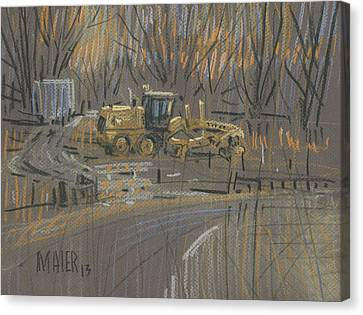 Road Grader Canvas Print by Donald Maier
