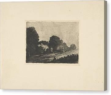 Country Roads Canvas Print - Road In Hilversum, Jonkheer Barthold Willem Floris Van by Jonkheer Barthold Willem Floris Van Riemsdijk