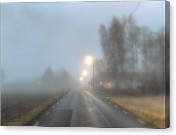 Road Into The Fog Canvas Print by EXparte SE