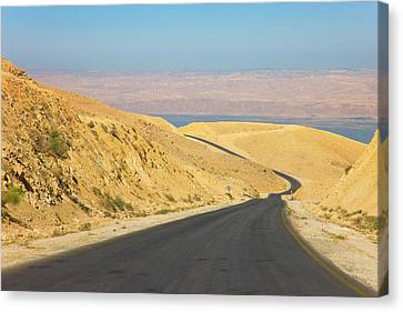 Road Leading To The Dead Sea, Jordan Canvas Print by Keren Su