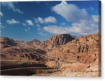 Nabatean Canvas Print - Road Leading To Umm Sayhoun Village by Panoramic Images