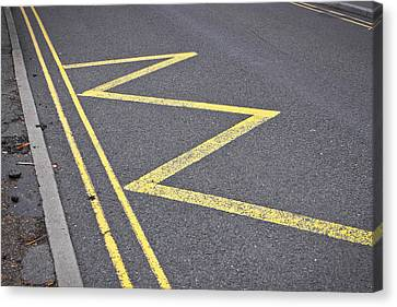 Road Markings Canvas Print by Tom Gowanlock