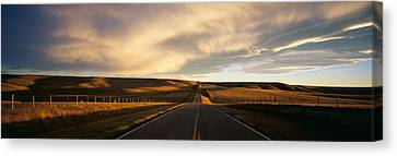 Road, Montana, Usa Canvas Print by Panoramic Images
